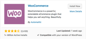 woocommerce install