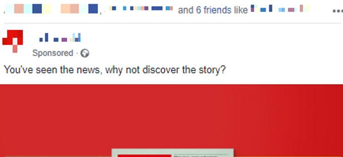 esempio post sponsorizzato facebook